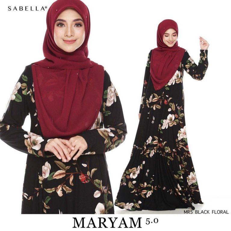 baju jubah maryam sabella 5.11
